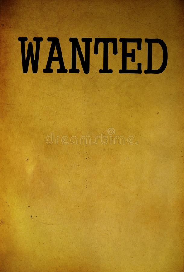 Vintage Wanted Poster Template Stock Photo  Image Of Alive Vintage