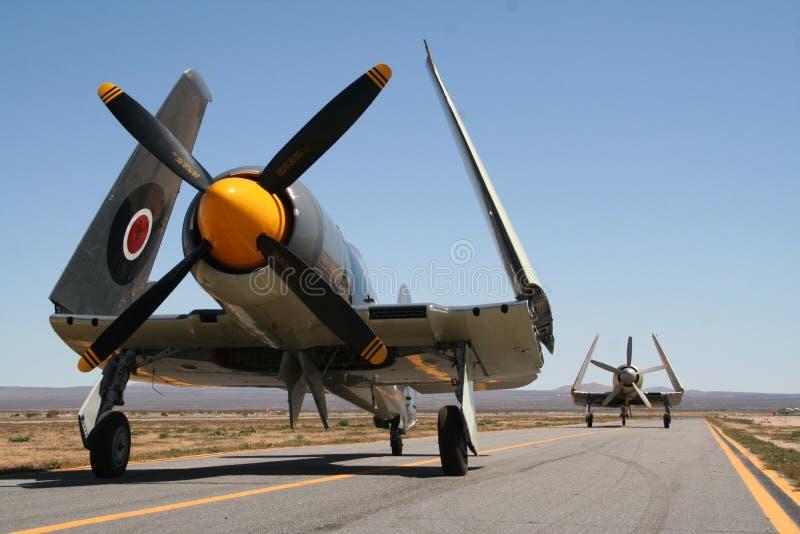 Vintage war planes royalty free stock photos