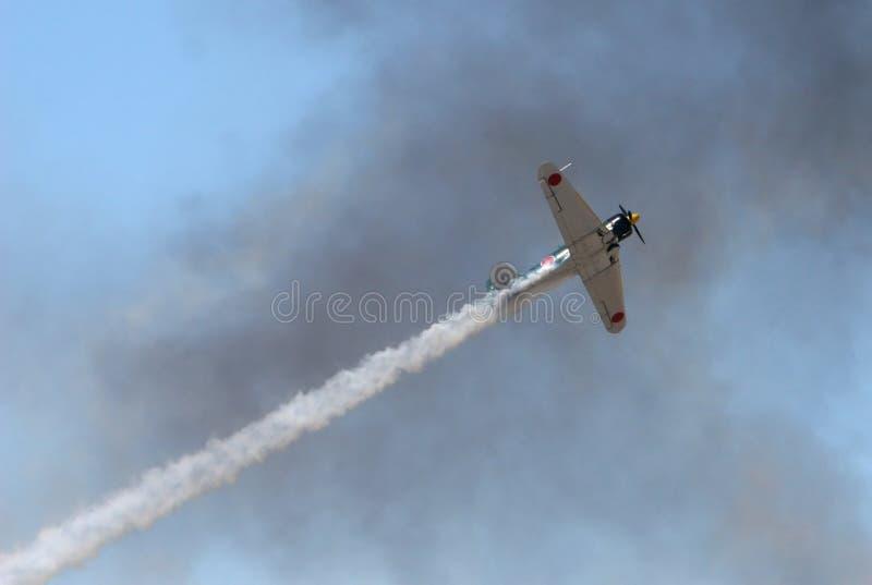 Download Vintage Warplane In Smoky Sky Stock Photo - Image: 2308906