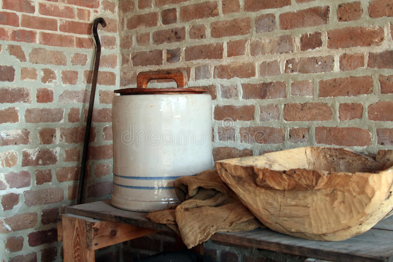 Vintage wash room, Fort Clinch. Located i Florida stock photo