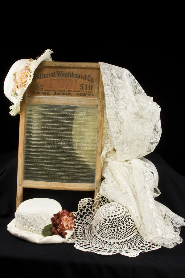 Download Vintage Washboard and hats stock image. Image of accessories - 9264975