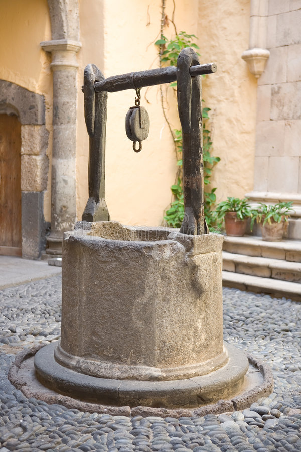Download Vintage water well stock image. Image of european, patio - 3399473