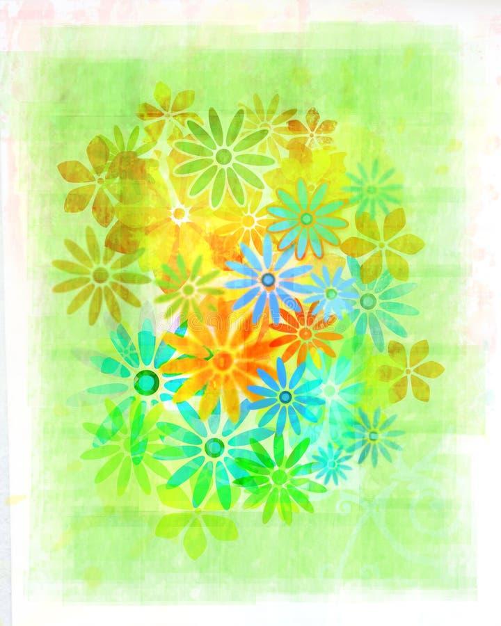 Download Vintage Watercolour Flowers Stock Illustration - Illustration of texture, flora: 7038988