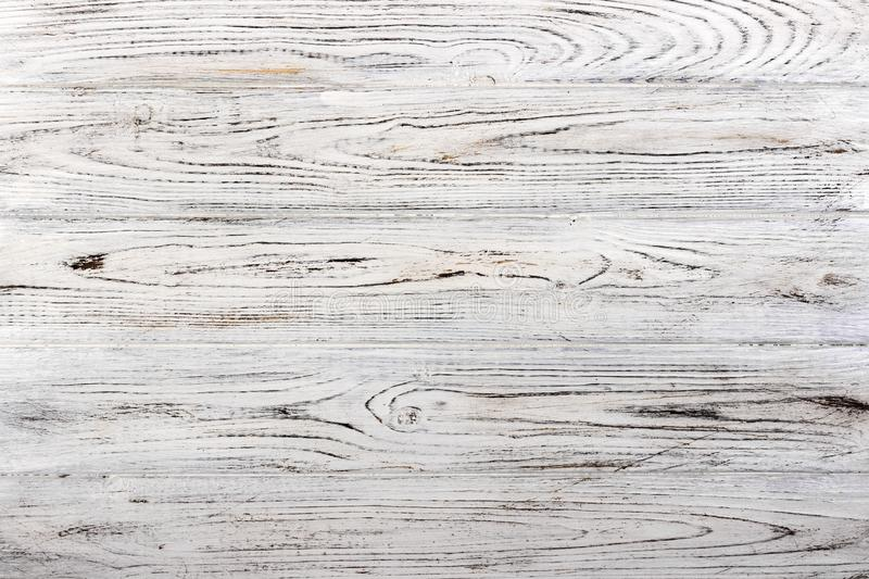 Vintage weathered shabby white painted wood texture as background royalty free stock images