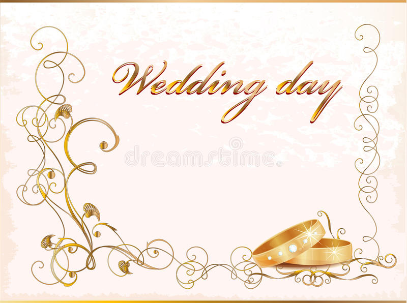 Vintage wedding card vector illustration