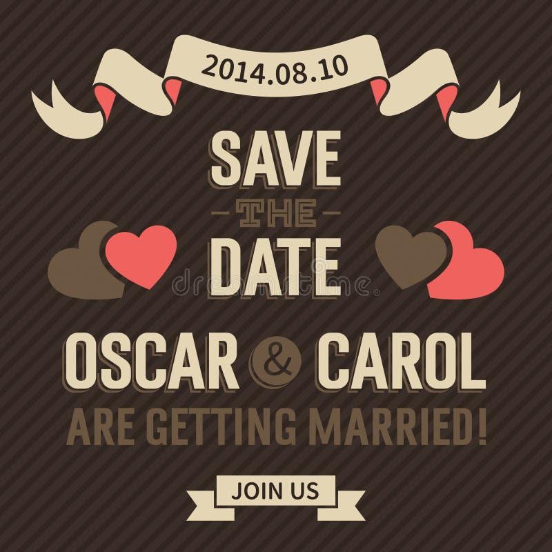 Vintage Wedding Invitation stock illustration