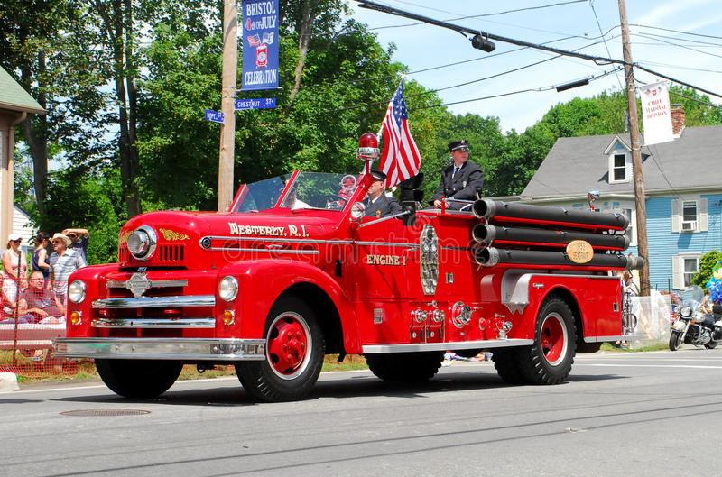 Download Vintage Westerly, RI Firetruck Editorial Stock Photo - Image of antique, fire: 20866498