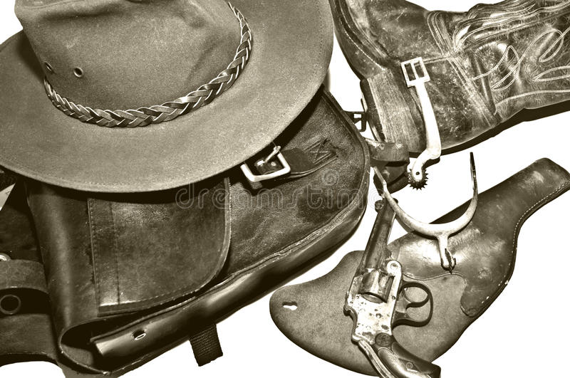Download Vintage Western Collection Black And White Royalty Free Stock Photo - Image: 13253085