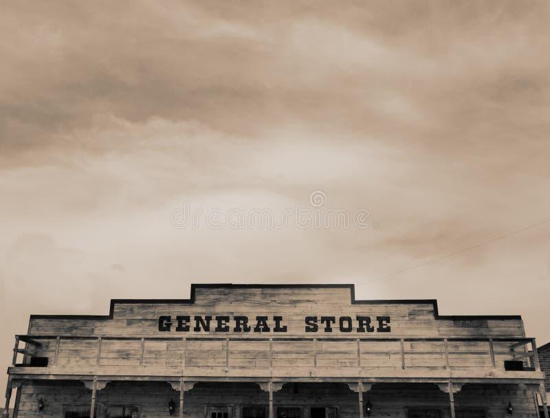 Download Vintage Western General Store Stock Image - Image of postcard, sepia: 3043883