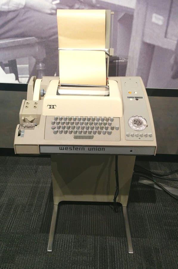 Vintage Western Union Teletype machine royalty free stock images