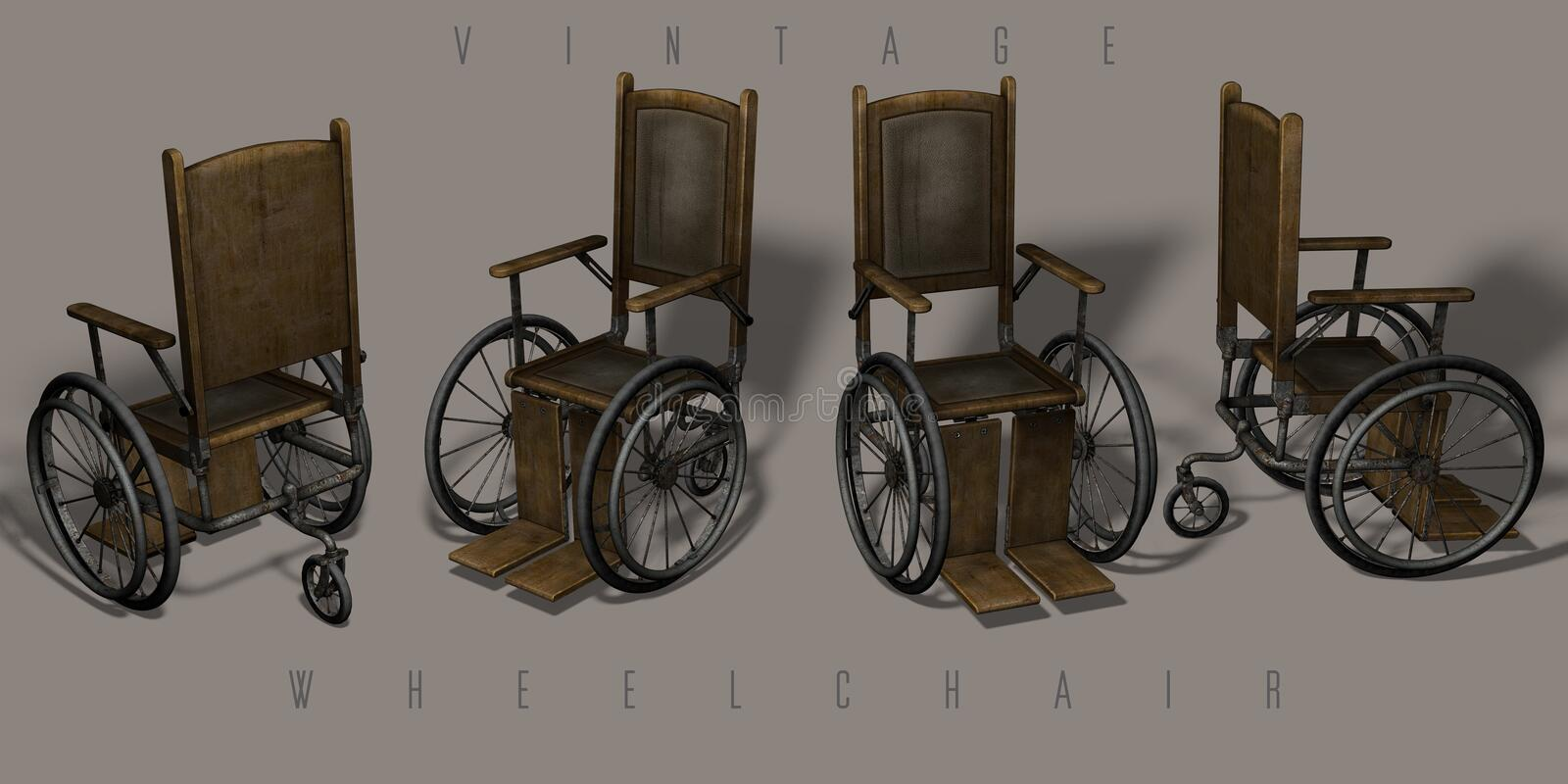 Vintage wheelchairs