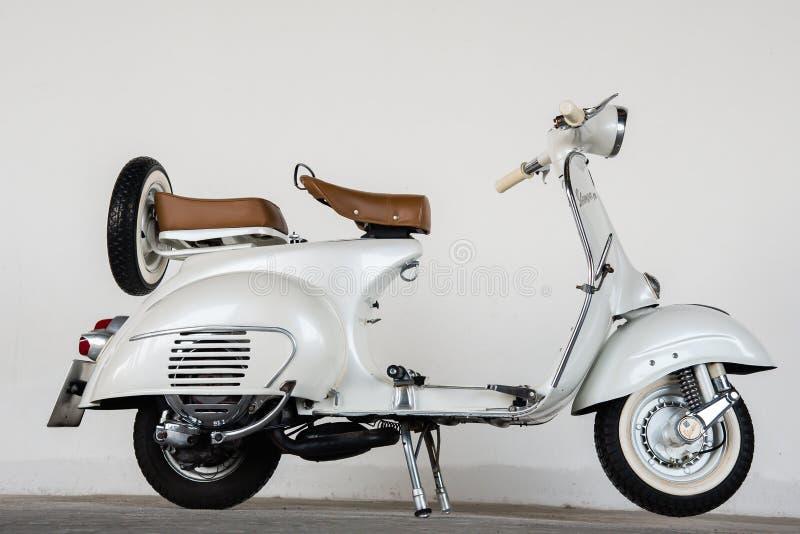 1964 vintage white vespa editorial stock photo image of for Vespa com italia