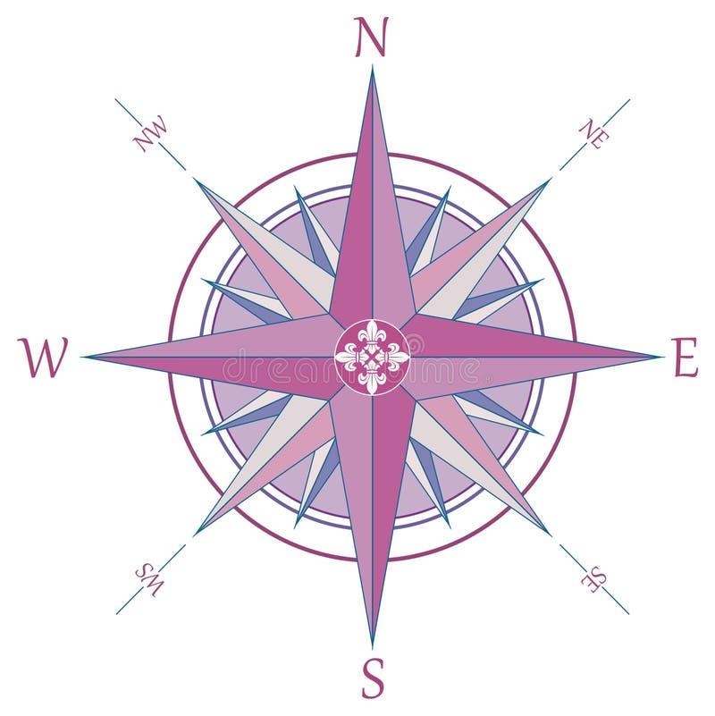 Vintage wind rose compass stock image