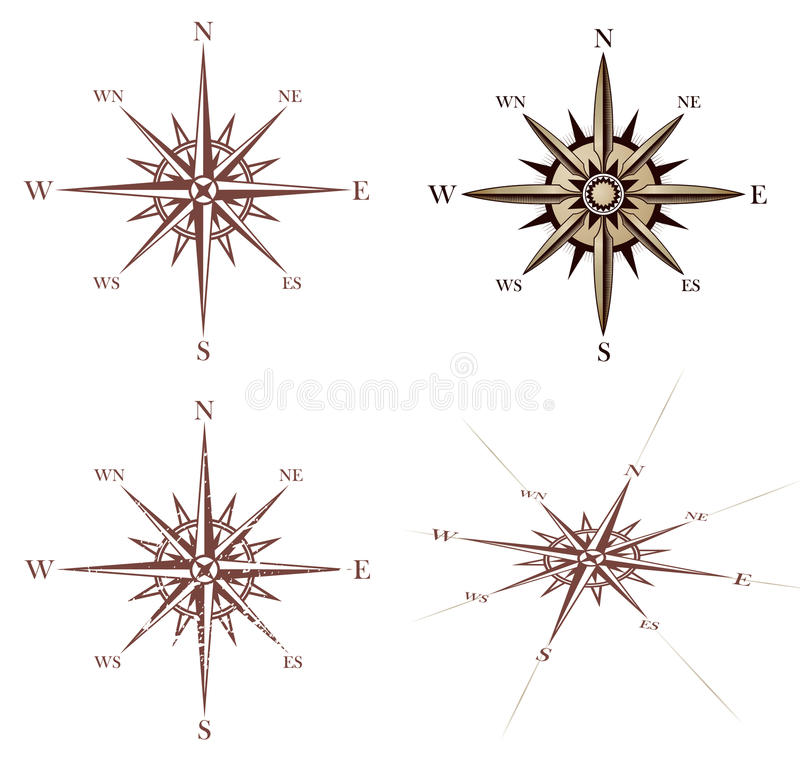 Download Vintage Wind Rose Compass Stock Image - Image: 19466511