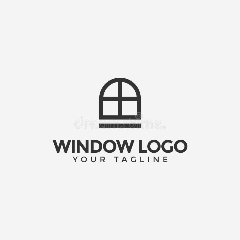 Vintage Window Logo Design Template stock photos