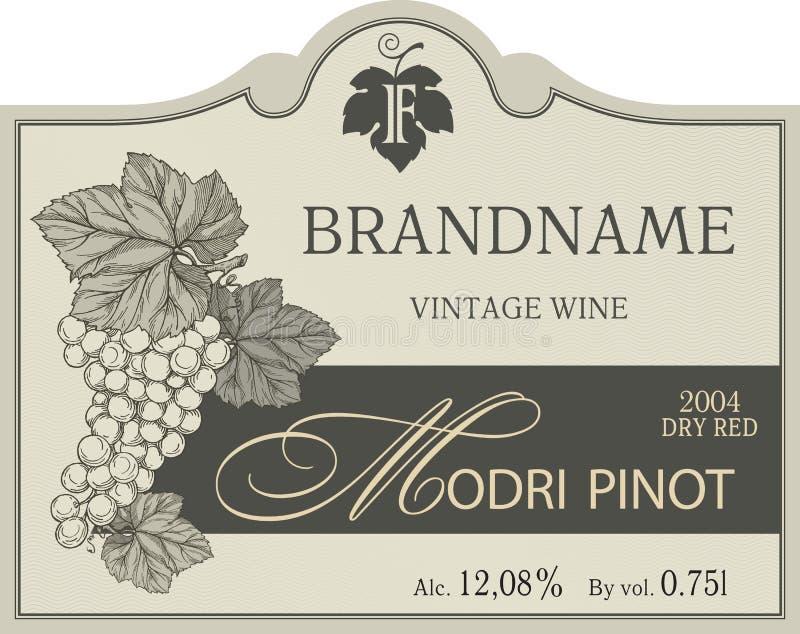 Vintage wine label template vector illustration