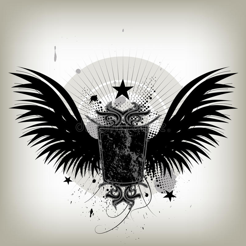 Vintage wings shield