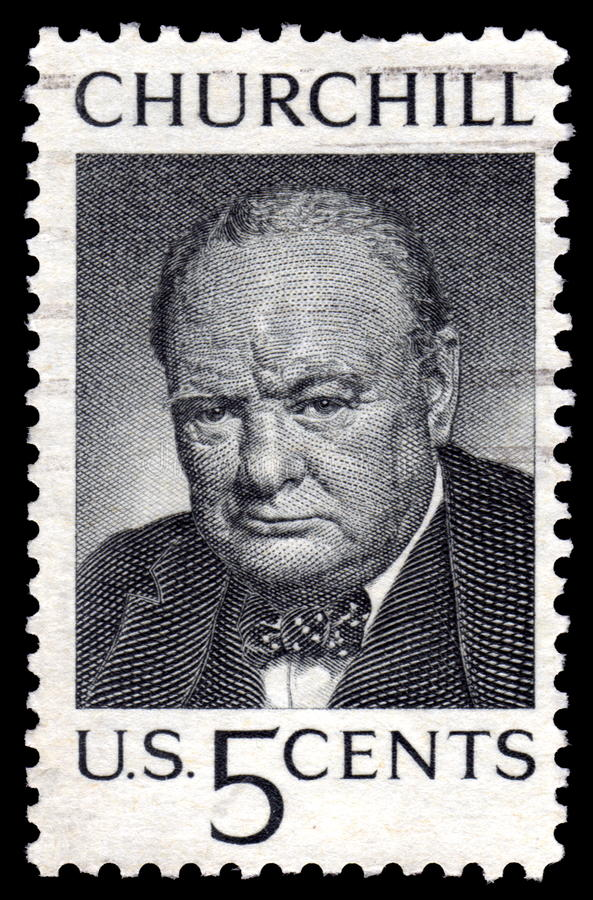 Vintage Winston Churchill USA postage stamp royalty free stock image