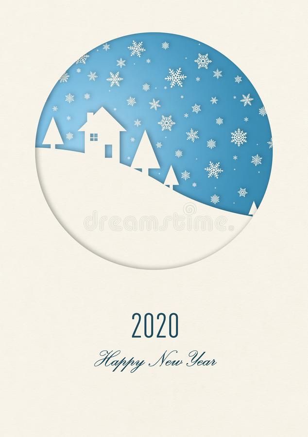 Happy new year 2020 winter card royalty free illustration