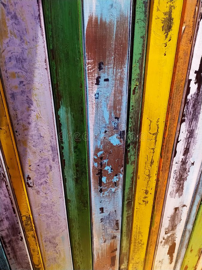 Vintage wood background weathered wooden plank painted stock photo