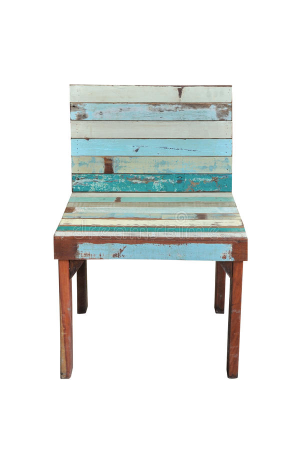 Vintage wood chair royalty free stock photo