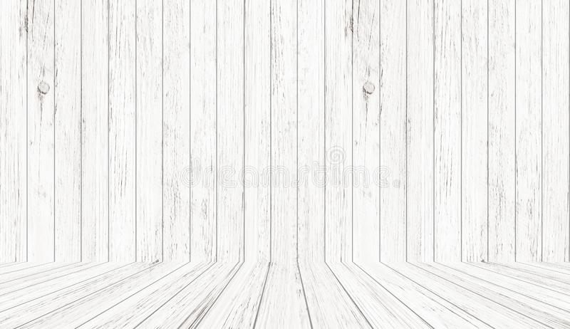 Vintage wood pattern texture in perspective view. Empty wooden room space background. Vintage wood pattern texture in perspective view for background. Empty stock illustration