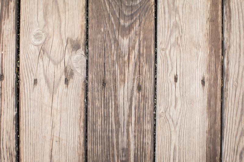 Vintage wood texture. Background with old wooden panels. Top view of wooden floor or table royalty free stock photo