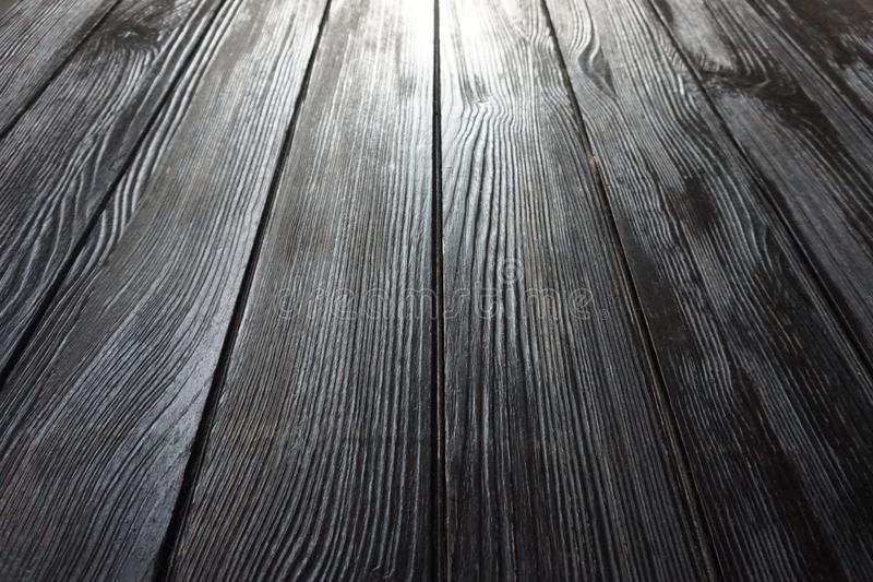 Vintage wood textured background. With brown. Wooden planks on a wall or floor with grain stock image