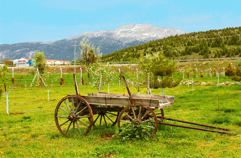Vintage wood wagon, Turkey royalty free stock images