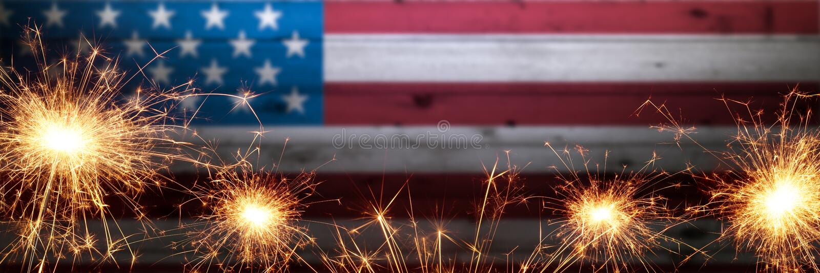 Vintage Wooden American Flag royalty free stock photo
