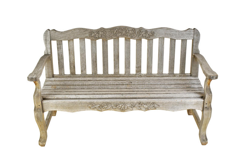 Vintage Wooden Bench Stock Image Image Of Sitting Green