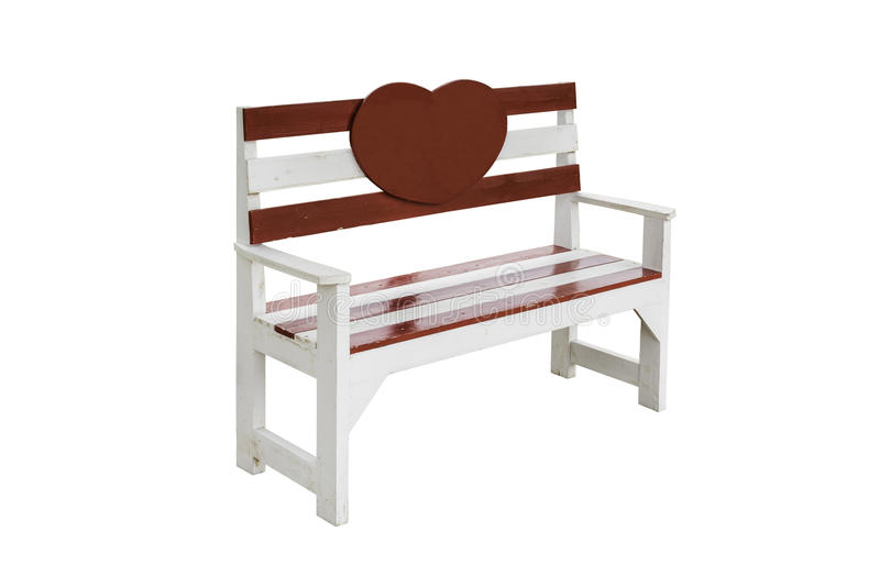 Vintage Wood Bench With Clipping Path Stock Image Image