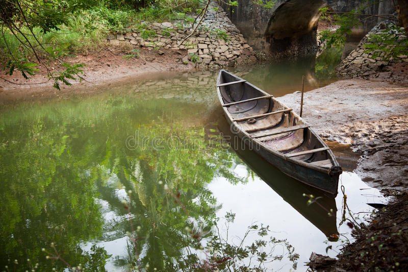 Download Vintage wooden boat stock photo. Image of small, rowing - 22475432