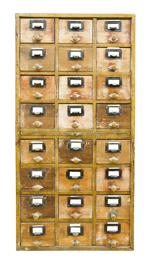 Vintage Wooden Cabinet With Drawers Stock Images - Image: 27926704