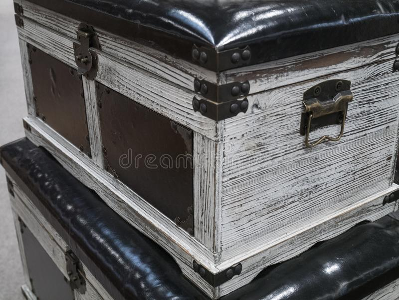Vintage wooden crate stock photography