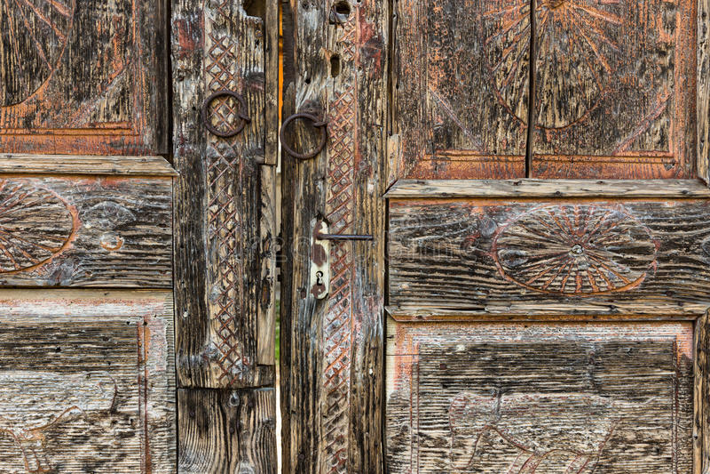 Download Vintage wooden door. stock photo. Image of gate, aged - 39506082