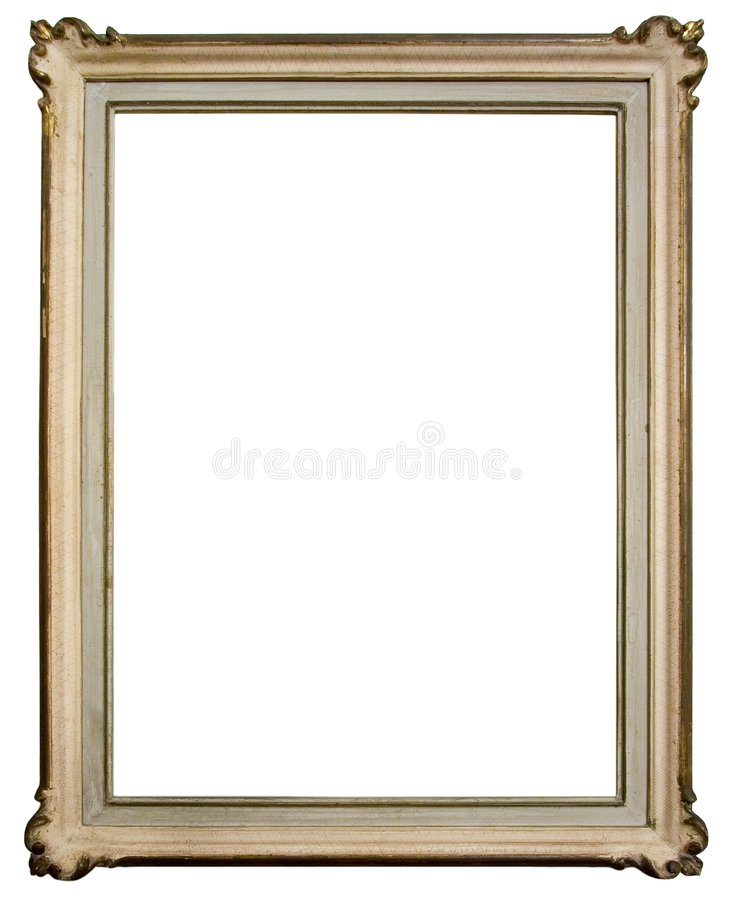 Vintage wooden frame stock images