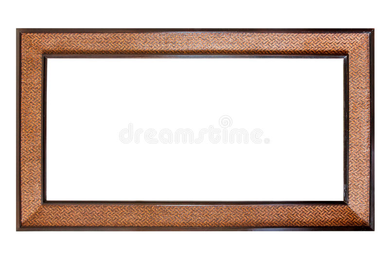 Download Vintage Wooden Frame Isolated On White Background Stock Image - Image: 26495167