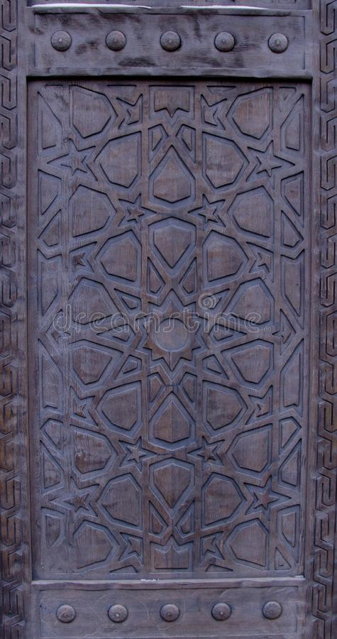Vintage wooden gate royalty free stock photo