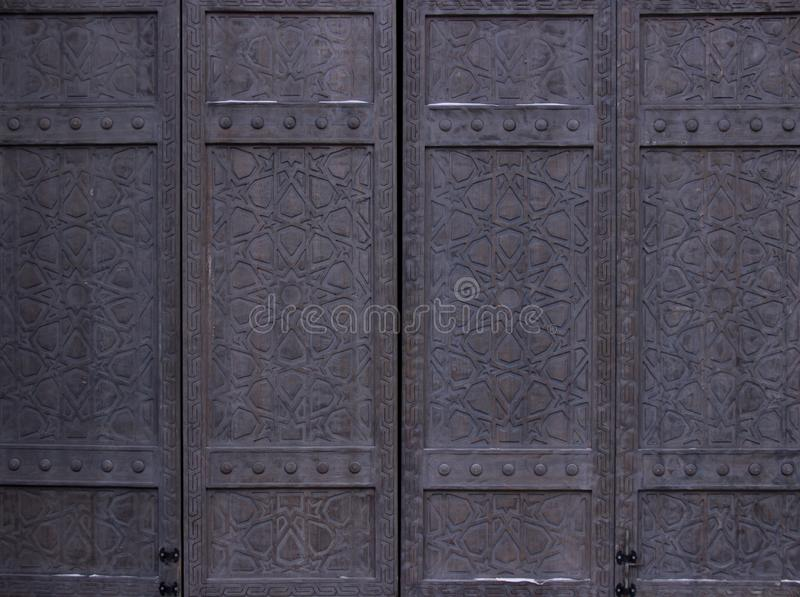 Vintage wooden gate royalty free stock image