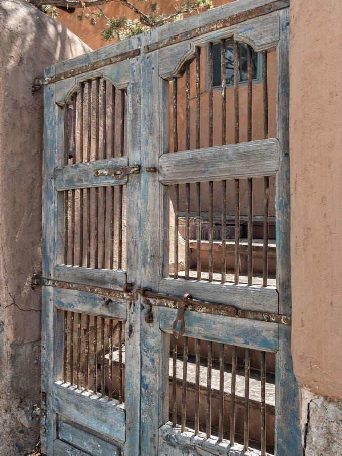 Spanish architecture, wooden gates royalty free stock photo
