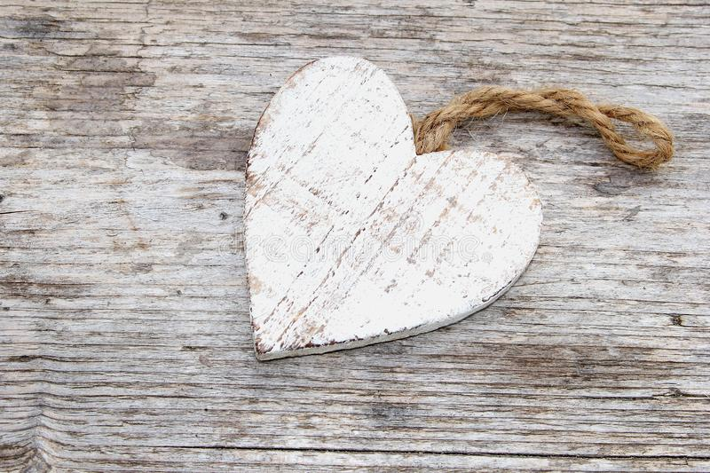 Download Vintage Wooden Heart White Wash Wood Background Stock Image