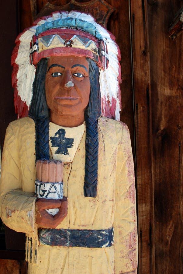Vintage Wooden Indian stock image