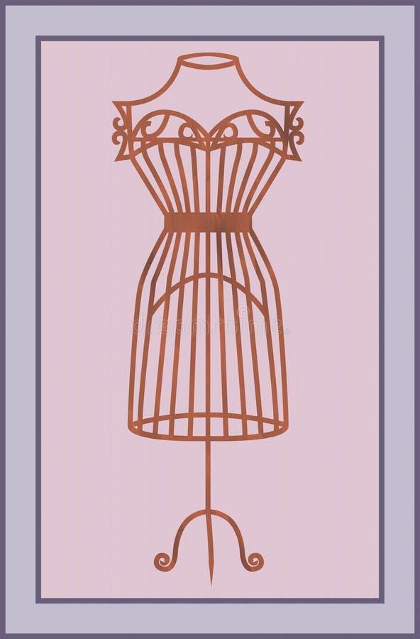 Download Vintage wooden mannequin stock illustration. Image of fashioned - 32097908