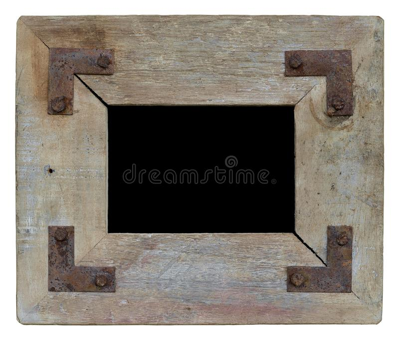 Vintage wooden photo frame royalty free stock photography