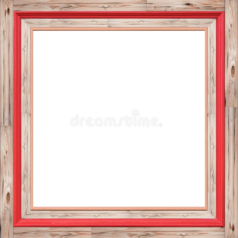 Vintage wooden photo frame texture for abstract background. royalty free stock images