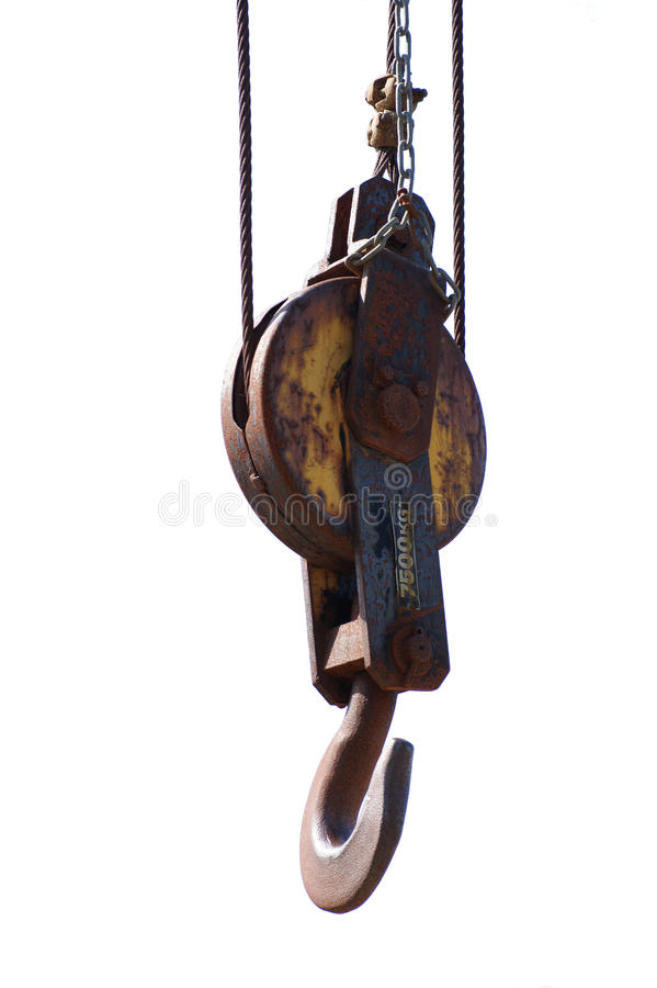Vintage Wooden Pulley stock photography