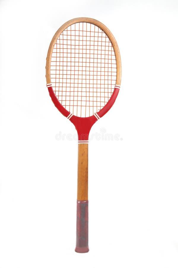 Vintage wooden tennis racket royalty free stock image