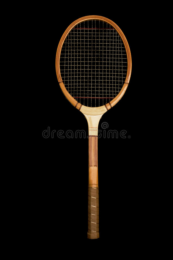 Vintage Wooden Tennis Racquet royalty free stock photo