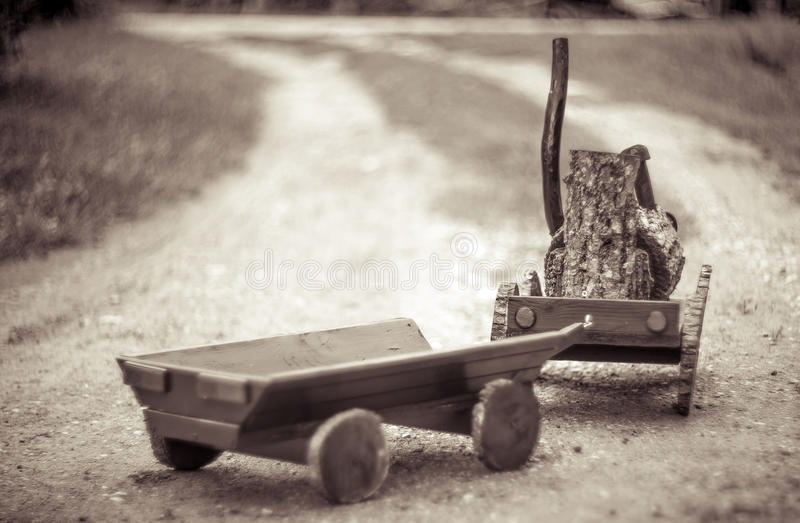 Vintage wooden toy stock image
